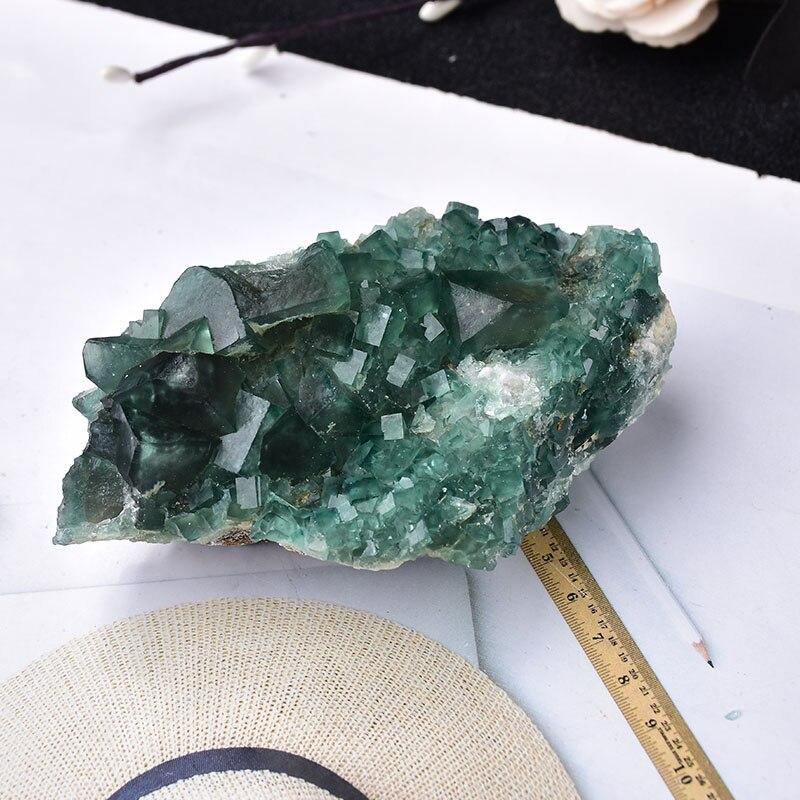 100% natürliche Stein Grün Fluorit Mineral Kristall Probe Cluster Mineral Kristall Steine Gesundheit Energie Healing Stein Dekoration