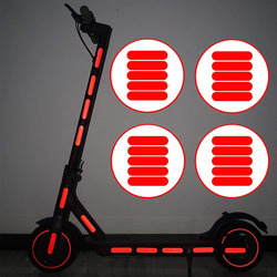 24 шт./компл. водонепроницаемый светоотражающие наклейки для Xiaomi M365 электрический скутер отражатель предупреждение DIY светоотражающие поло...