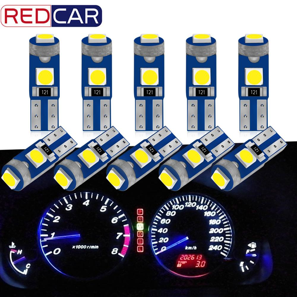 10pcs T5 Super Bright 3030 Chip LED 3SMD W3W W1.2W 70 73 74 79 85 LED Wedge Dashboard Gauge Lamp Auto Indicator Wedge Light  12V