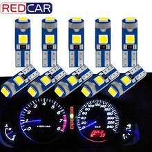 10 Uds T5 Super brillante 3030 Chip LED 3SMD W3W W1.2W 70 73 74 79 85 LED de la cuña de tablero lámpara de medidor indicador Auto Luz de cuña 12V 12V