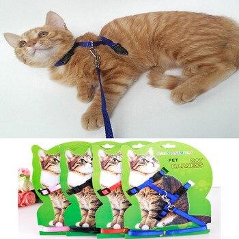 Arnés para gatos, Collar y correa para perros, ajustable, correa de tracción para mascotas, correa de arnés para gatos, productos para caminar