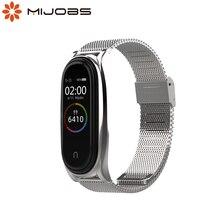 עבור Mi Band 5 רצועת מתכת יד צמיד לxiaomi קוראת עיקול 4 Wristbands עבור Miband 3 Pulseira Opaska NFC גלובלי גרסה
