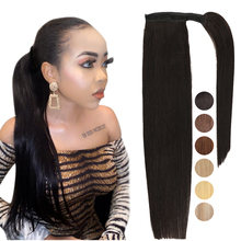 Ponytail Extensions Natural-Hair Hair-Pony Clip-In Brazilian for Black Women Attached