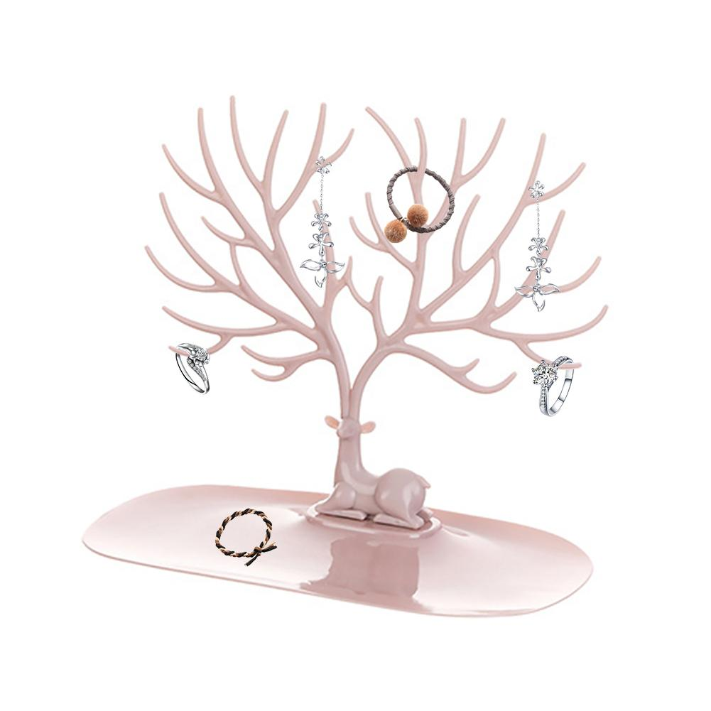 Jewelry Necklace Earrings Rings Deer Stand Display Organizer Holder Show Rack Creative Gift Tree Storage Jewelry Organizer Show