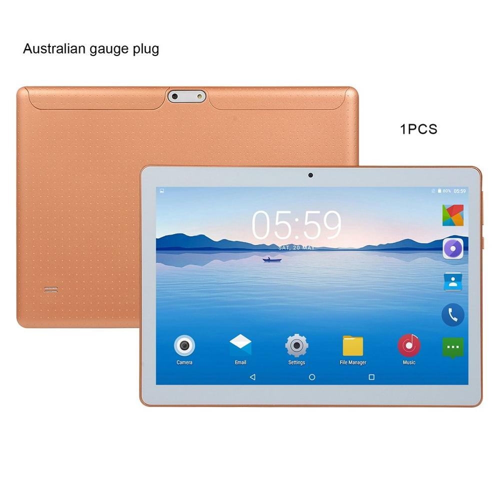 KT107 Plastic Tablet 10.1 Inch HD Large Screen Android 8.10 Version Fashion Portable Tablet 8G+64G Gold Tablet