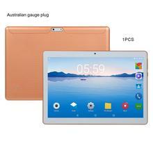 KT107 пластиковый планшет 10,1 дюймов HD большой экран Android 8,10 версия модный портативный планшет 8G+ 64G Золотой планшет