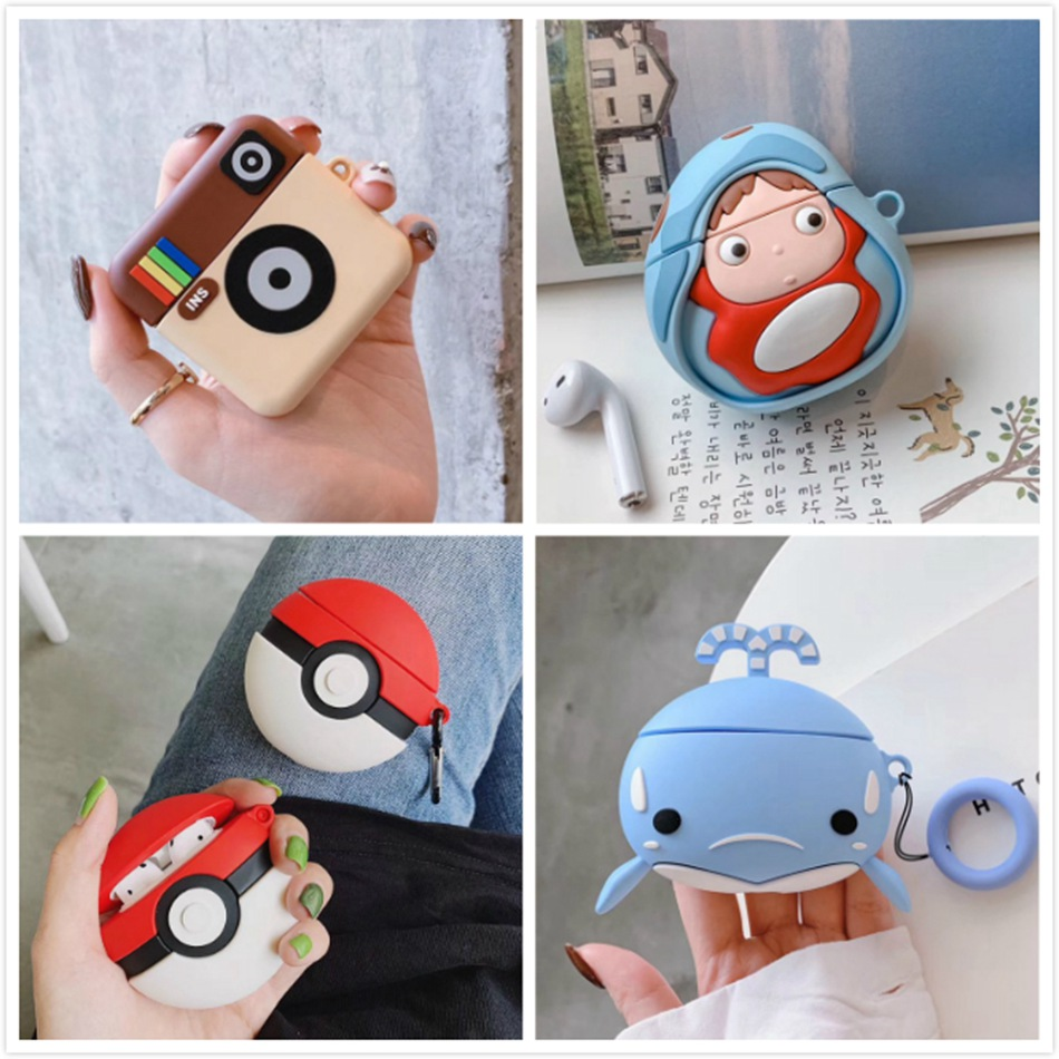 For Honor Fly Pods Pro Case Cute Cartoon Stitch Silicone Earphone Case For Huawei FreeBuds 2 Pro Honor Flypods Case Cover Strap