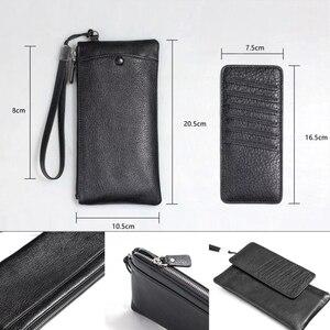 Image 3 - Gerçek deri cüzdan + arka kapak telefon XS Max XR lüks 3D hakiki deri arka kapak telefon için 11 Pro Max durumda çanta, MYL 49K