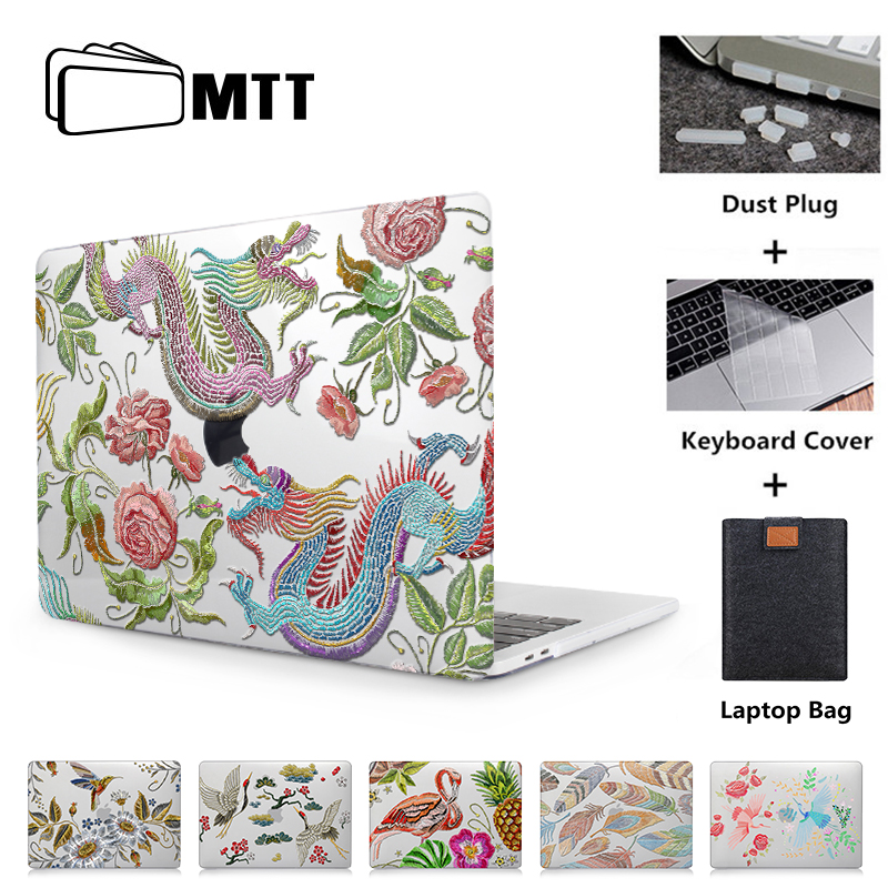 MTT Laptop Sleeve For MacBook Air Pro Retina 11 12 13 15 Touch Bar Crystal Transparent Print Cover Case For Macbook Air 13 Inch