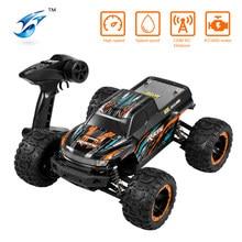 Linxtech 16889 1/16 ölçekli 45km/saat yarış RC araba fırçasız Motor 4WD büyük ayak Off-Road RC araba oyuncak tüm arazi çocuklar yetişkinler için