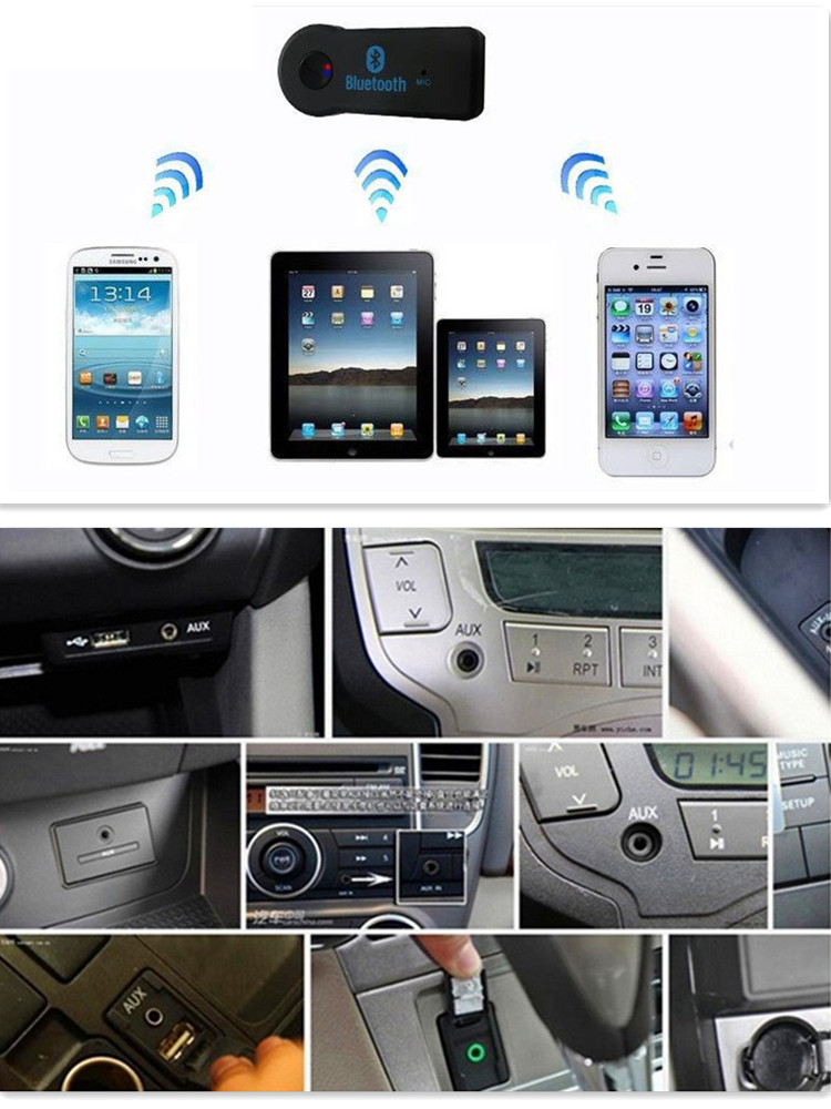 Car Mini 3.5MM Jack AUX Audio MP3 Music Bluetooth Receiver for <font><b>toyota</b></font> <font><b>corolla</b></font> <font><b>e150</b></font> octavia a7 qashqai j10 kia optima bmw e90 image