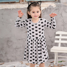 Girls Dresses Printed Cotton Kids Dress Long Sleeve Spring Autumn Baby Girls Clothes Casual Children Dress 2 3 4 5 6 7 8 Years autumn clothes for baby girls children long sleeve cotton clothing fall girls dresses kids clothes toddler girls wear 7 8 years