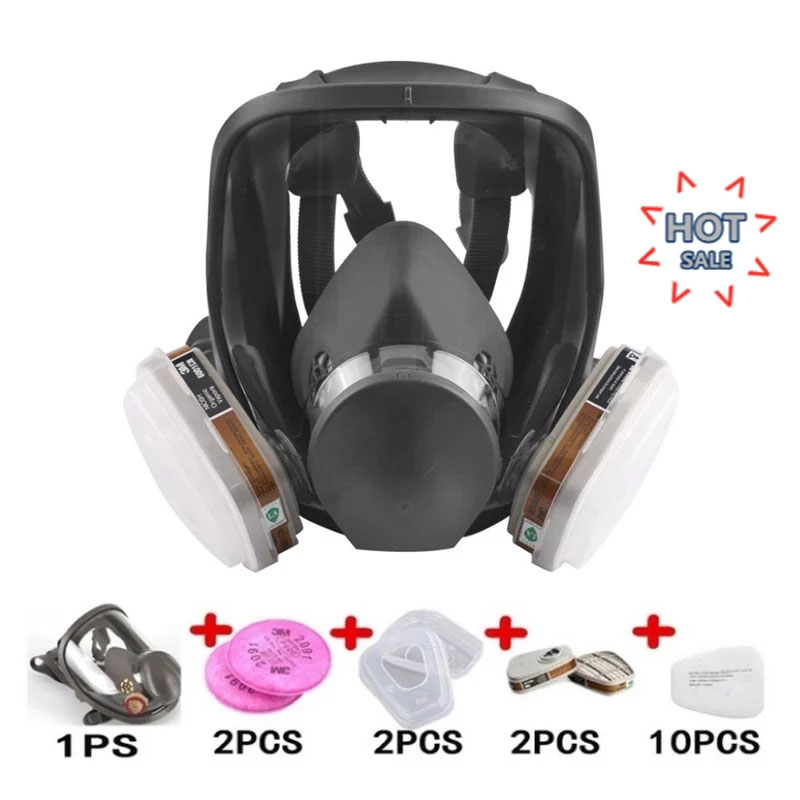 7 In 1 6800 Industrial Spray Paint Gas Mask Spray Paint Gas Mask 2 In 1 Set Safe Work Filter Dust And Gas Full Face Mask