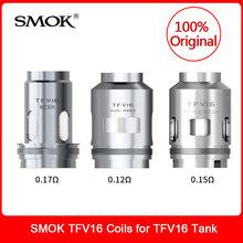 Oryginalny SMOK TFV16 cewki podwójne potrójne cewka z siatki dla SMOK TFV16 Atomizer Tank 9ml parownik E papierosów VS TFV12 książę cewki tanie tanio SMOK TFV16 Coils 0 17ohm Coil (BEST 120W) 0 12ohm Coil (80-160W BEST 120W) 0 15ohm Coil (BEST 90W) SMOK TFV16 Tank 3pcs pack
