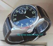 חדש אופנה 44mm אין לוגו טייס 6497 מכאני יד רוח זוהרת תנועת גברים של שעון מכאני שעונים סיטונאי x0001