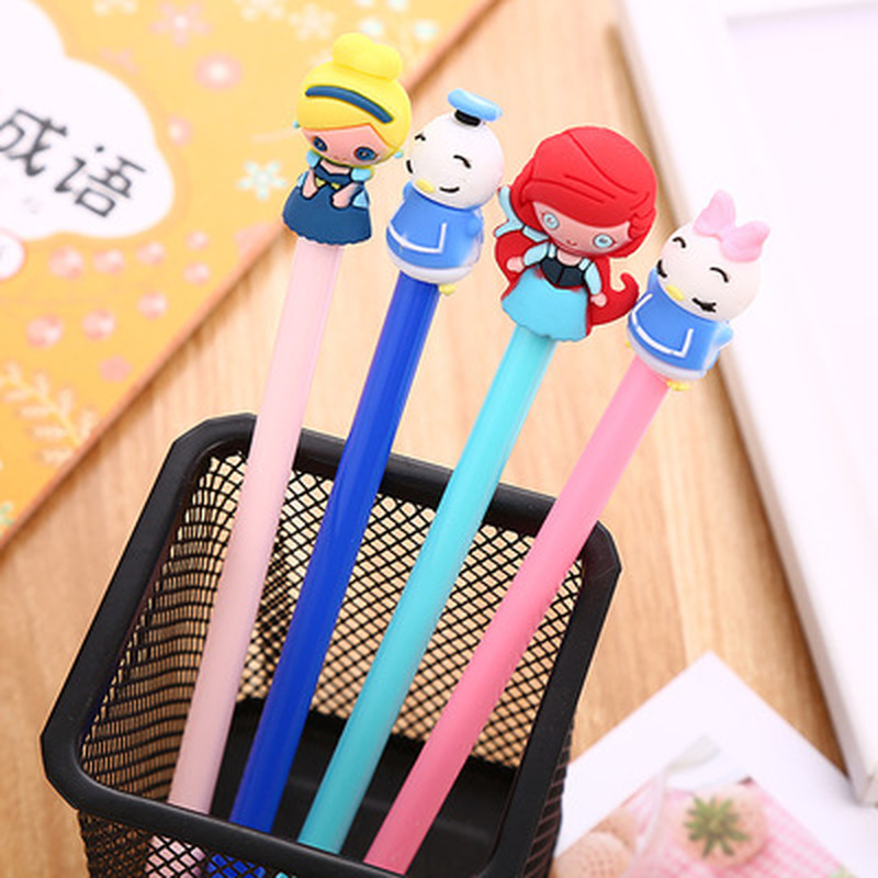 1pcs Mermaid Gel Pen 0.5mm Cute Pens Duckling Novelty Stationery  Kawaii Pen Student Cute Writing Pens Kawaii School Supplies