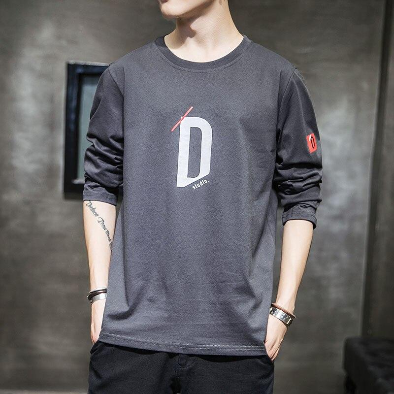 Camiseta masculina de algodão de moda de manga completa dos homens do verão camisetas masculinas de grandes dimensões camisetas 5xl casual t camisa para o homem streetwear