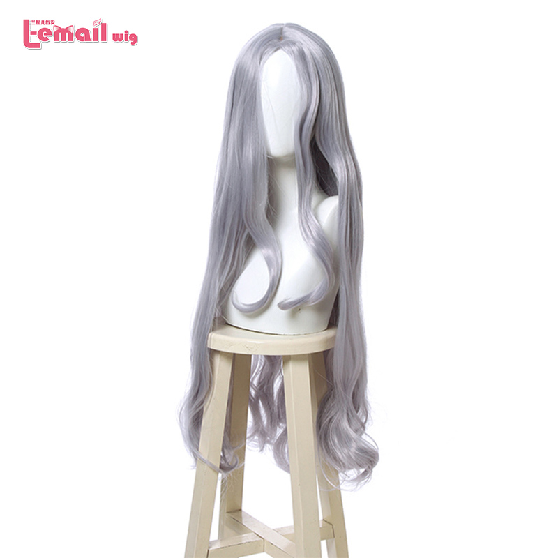 L-email Wig My Hero Academia Eri Cosplay Wigs Grey Blue Long Wave Cosplay Wig Heat Resistant Synthetic Hair Halloween