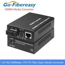 Гигабитный волоконно оптический медиаконвертер 1000 Мбит/с дуплексный одномодовый sc волоконно оптический конвертер 20 км гигабитный волоконно оптический медиаконвертер