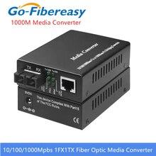 Gigabit Fiber Optic Media Converter 1000Mbps SC Singlemode Duplex Fiber Optic Converter 20km Gigabit Fiber Optic Media Converter