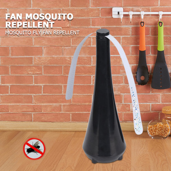 Portable Mini Desk Fan Automatic Electronic Pest Control Fan Blade Mosquito Fly Bugs Repellent Food Protector Mosquito Fly Fan 1