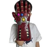 Новая бесконечная перчатка мстители супергерой для косплея Железного человека перчатки танос перчатка ПВХ оснастки варежки ребенок взрос...