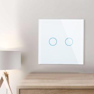 Image 3 - Livolo האיחוד האירופי תקן 2 כנופיית 1 דרך קיר מגע אור מתג, קיר כוח חיישן מתג, 7 צבעים קריסטל זכוכית פנל, עם led תאורה אחורית