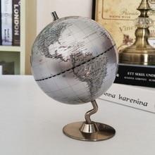 Dia 14cm geografia globo do mapa da constelação do mundo globo da terra do vintage ornamentos metal base globo