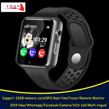Smart GPS Tracer Location Bluetooth Kids Student Watch with Camera Pedometer Remote SOS Monitor Touch Screen Phone Wristwatch aoluguya jhsp2 smart gsm watch phone w 1 54 screen bluetooth gps sleep monitor pedometer gold