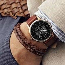 Luxury MenS Watch leather Arabic blue glass Quartz Wristwatches 2019 new fashion sports watch