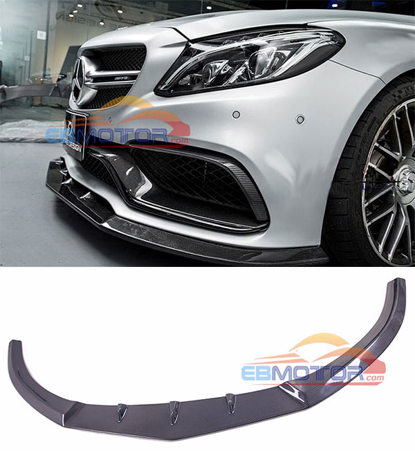 Real carbon Front Lip spoiler for Benz W205 C63 Coupe 2015UP M155