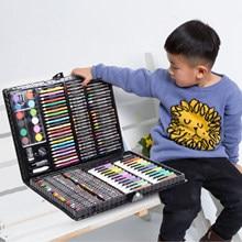 168 pièces peinture dessin artiste ensemble Kit eau couleur stylo Crayon huile Pastel peinture outil Art fournitures enfants papeterie coffret cadeau