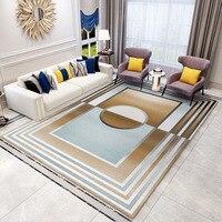 Nórdico moderno tapete para sala de estar quarto casa tapete macio pelúcia shaggy tapetes sala estudo e tapetes