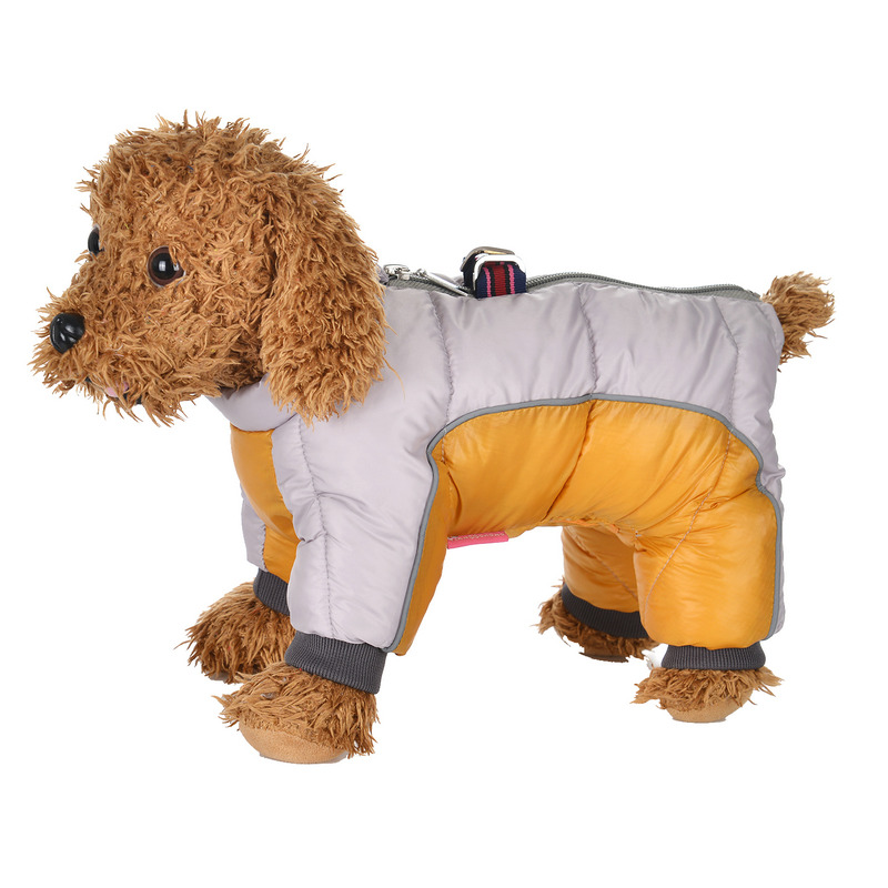 Reflective and Waterproof Dog Jacket with Four Full-Legged Overall Design for Winter 2