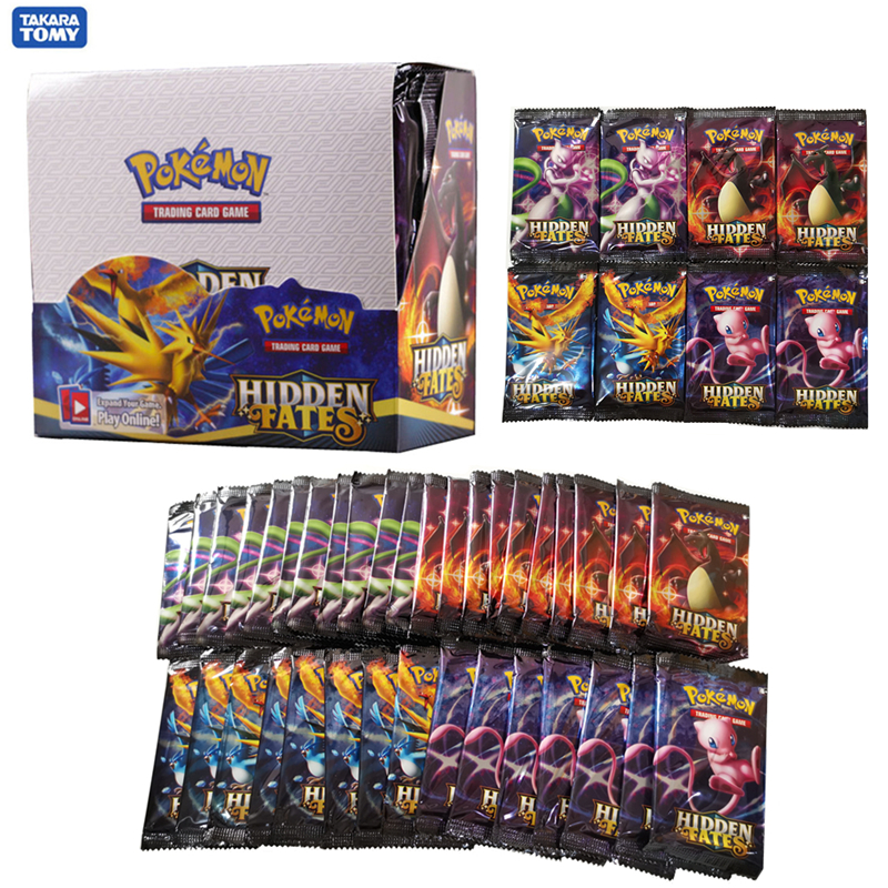 324pcs Pokemon Cards Sun & Moon Hidden Fates Booster Box Collectible Trading Card Game Child Gift