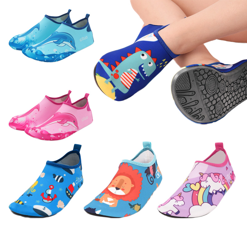 Children Shoes Girls Anti-slip Soft Barefoot Kids Slipper Boys Beach Shoes Baby Toddler Floor Home Slipper Snorkeling Swim Socks