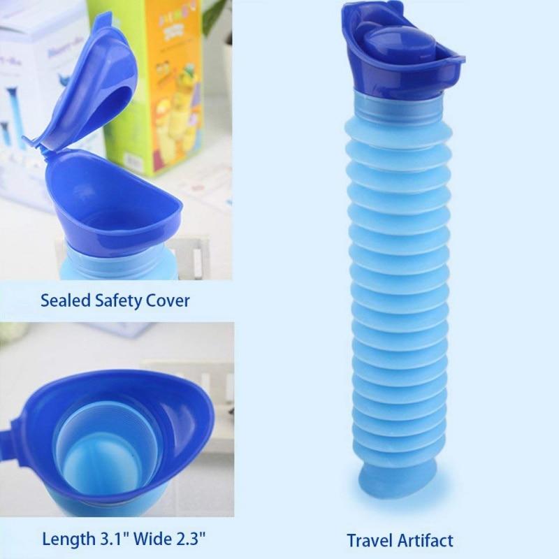 Outdoor Portable Urine Bag Women Men Children 750ML Mini Toilet  For Travel Camp Hiking Potty Children Training Foldable Ansblue
