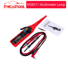 Multi-funktion diagnose-tool Circuit-Tester MS8211 Multimeter Lampe Auto Reparatur Automotive Electrical Multimeter 0V-380V Spannung