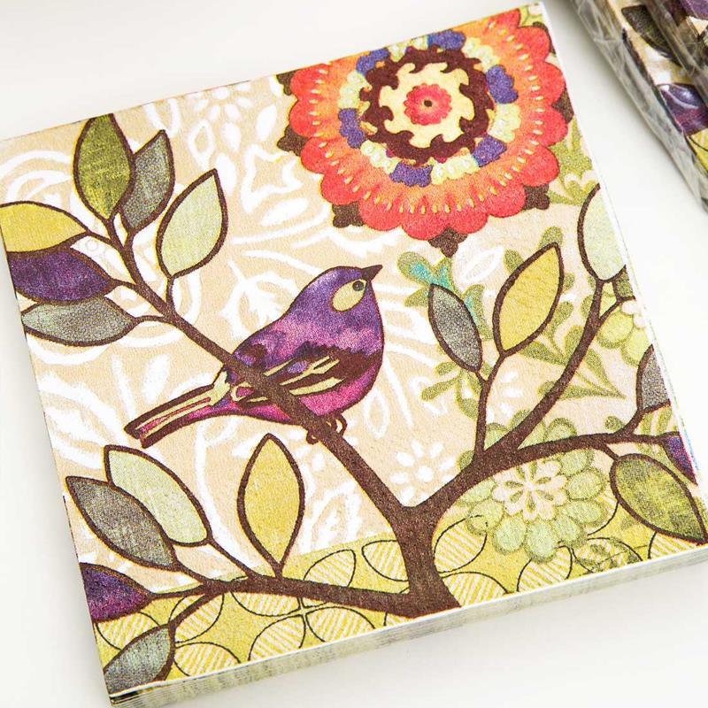 4 Paper Napkins for Decoupage 4 Individual Napkins for Craft /& Napkin Art. 3-ply 33 x 33cm Viola