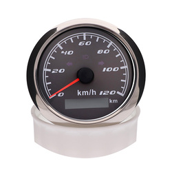 85MM Car Speedometer 120 Km/h 200 Km/h With Turn Light High Beam Red Backlight Without GPS Antenna For Marine Boat Racing 12V24V