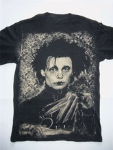 Edward Mani di Forbice T-Shirt Tim Burton Johnny Depp Goth Punk Pellicola New Cool Tee Shirt(China)