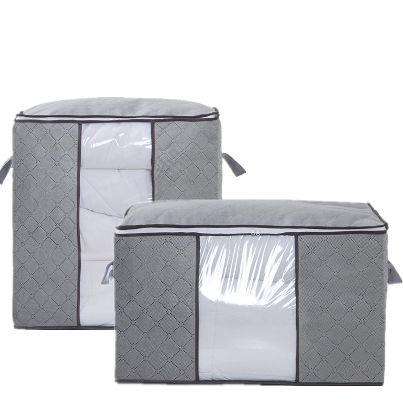 Non-woven fabric Quilt Storage Bag Home Clothes Quilt Pillow Blanket Storage Bag Travel Luggage Organizer Dampproof Sorting Bag