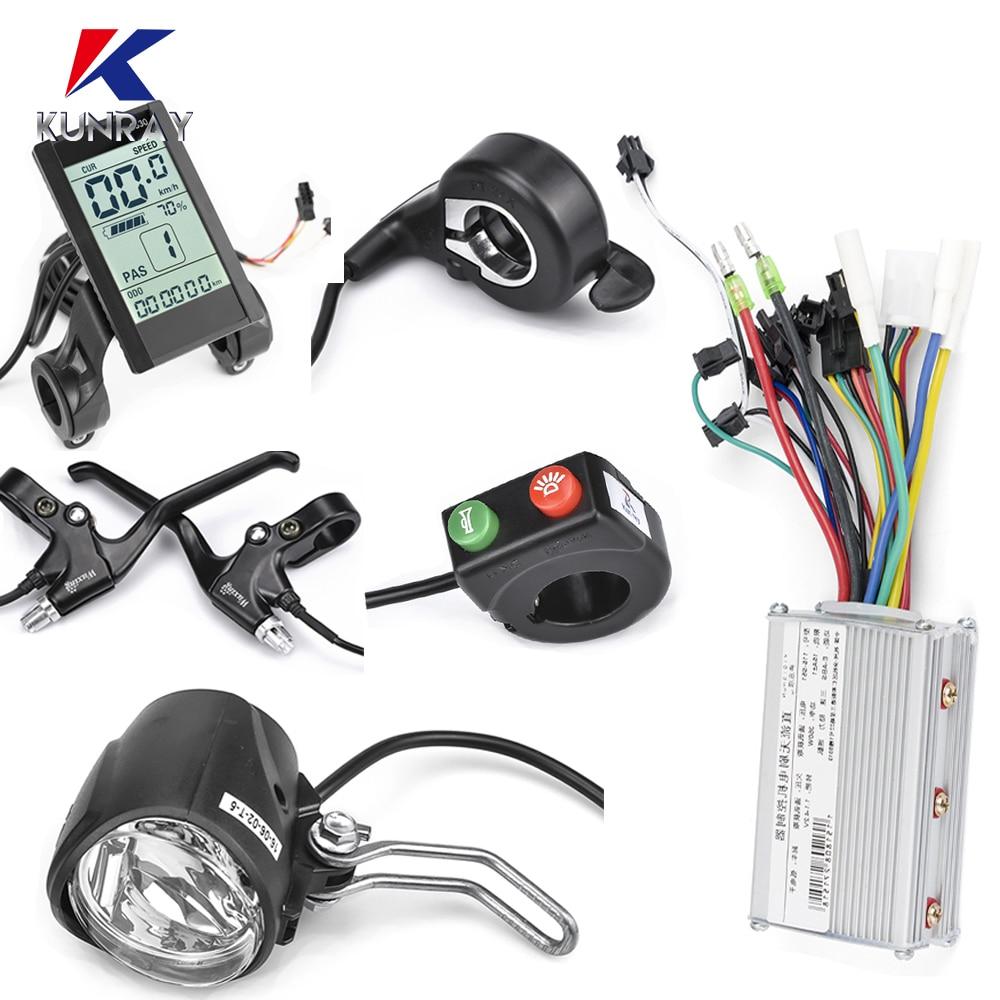 Jogo bonde 24v-36v-48v do controlador da bicicleta 350w/500w ebike acessórios controlador scooter elétrico 7in1 ebike luz acessório conjunto