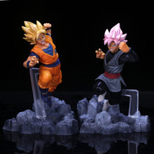 3 Styles Dragon Ball Z noir Goku Super Saiyan rose foncé VS troncs bataille Ver. Figurine PVC DBZ Goku Collection végéta modèle 12cm(China)