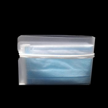10 Uds. Caja organizadora de máscara de almacenamiento a prueba de polvo desechable Máscara carpeta contenedor plegable máscaras faciales carpeta Clip titular hogar