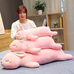 Abajo algodón rosa Papa conejo muñeca Linda niña suave conejo almohada peluche juguete regalo de San Valentín