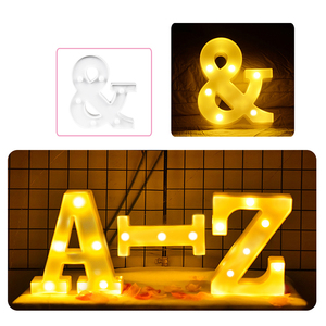 DIY 3D буквенный светильник светодиодный ночник s 26 Английский Знаковый знак Алфавит ночной Светильник атмосфера домашний декор для свадьбы и дня рождения светильник