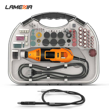 LAMEZIA Electrical Mill Electric Drill Mini Grinder Set With Grinding Head Cutting Piece Professional Power Tool Kit