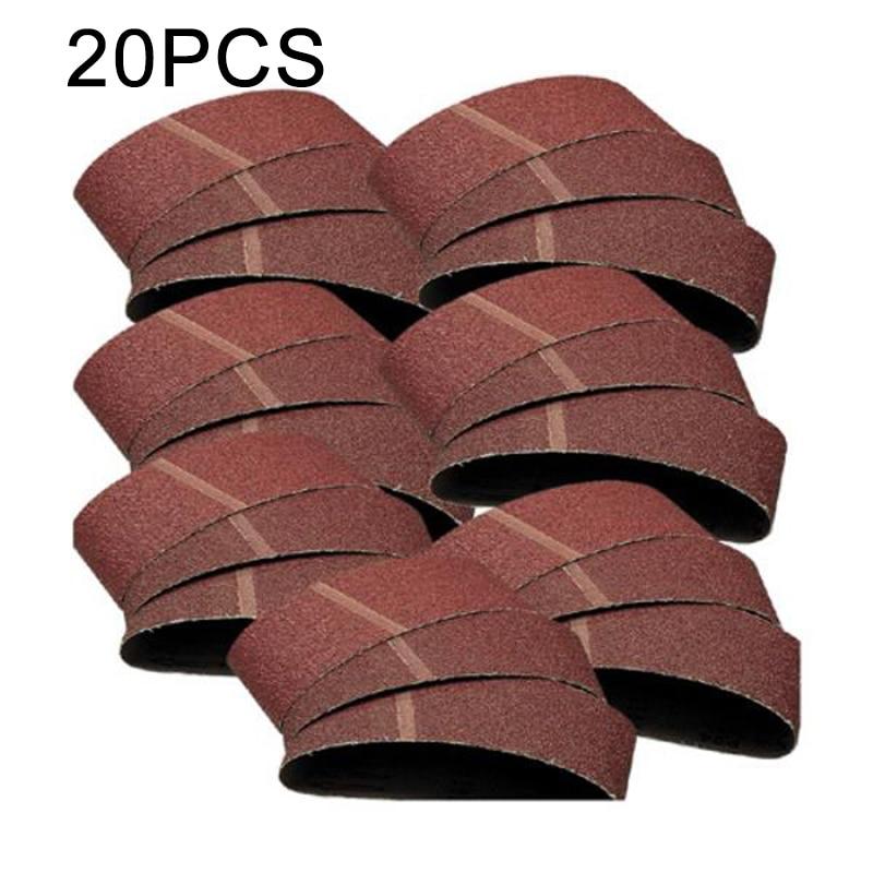 20PCS 457*75mm Brown Corundum Sanding Belts Sander 60/80/100/120 Grit Sander Polishing Grinding Accessories Ferramenta