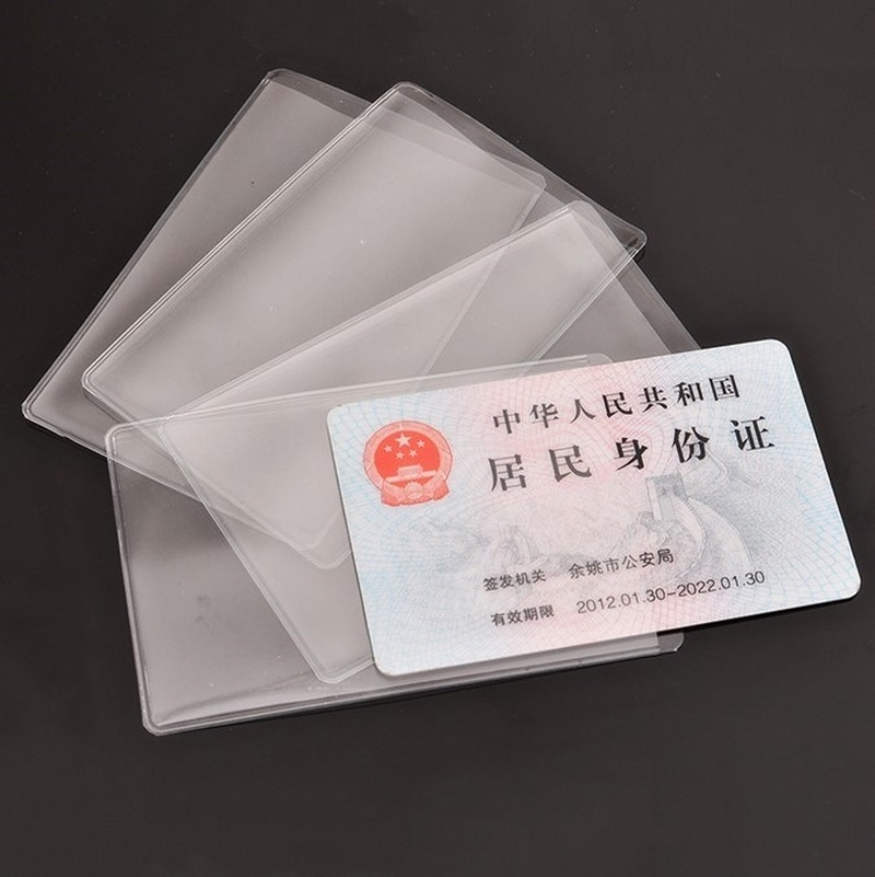 1/10PCs Transparent Waterproof Card Cover PVC Silicone Credit Cards Bank ID Card Sleeve Plastic Case Holder Cardholder Protector Travel Accessories     - title=